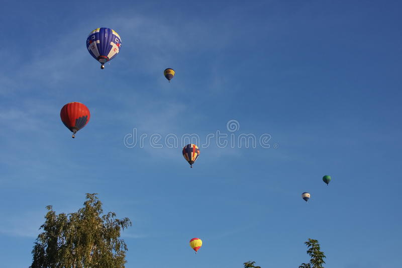 mörk stor sky för ballong royaltyfria foton