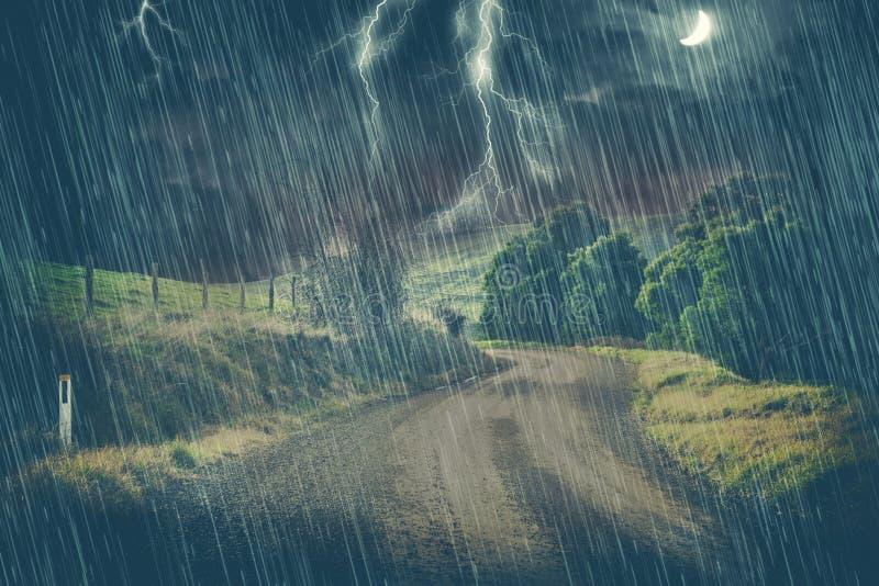 mörk storm royaltyfri bild