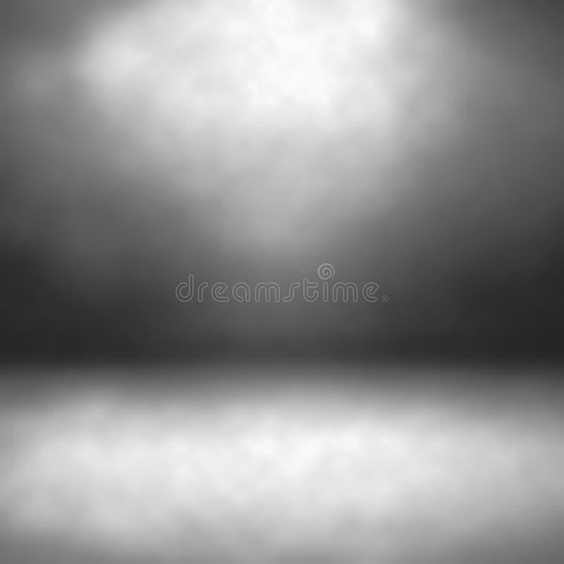 Mörk studiorumbakgrund med golvet, bästa startpunkt för bakgrunder i webdesign, app-design, tryckdesign eller visninglogoer b arkivbild