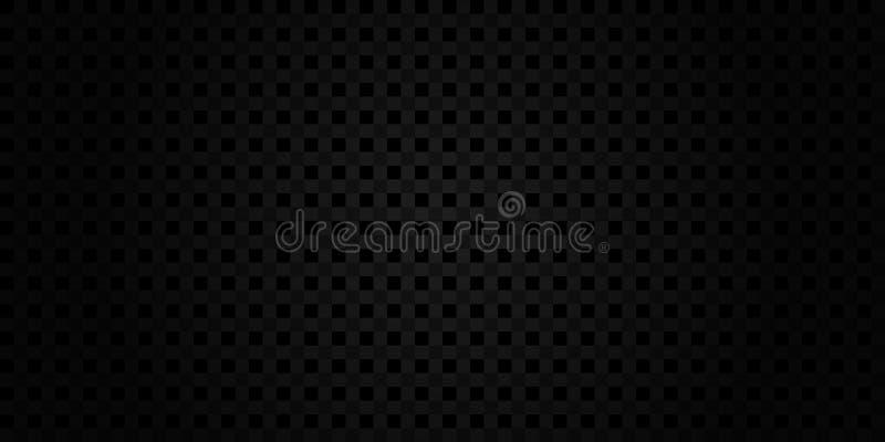 Mörk svart geometrisk rasterbakgrund stock illustrationer