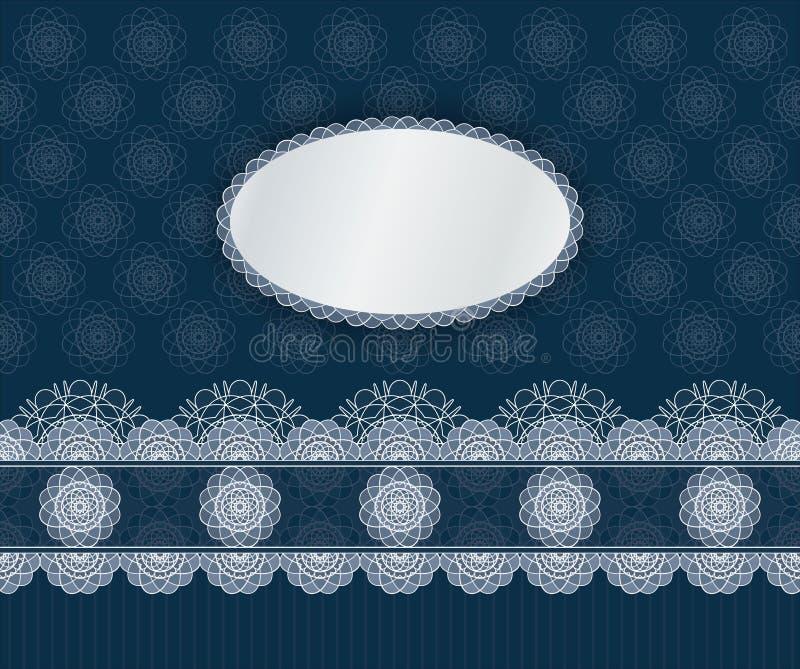 Mörk tappningmall för vektor royaltyfri illustrationer