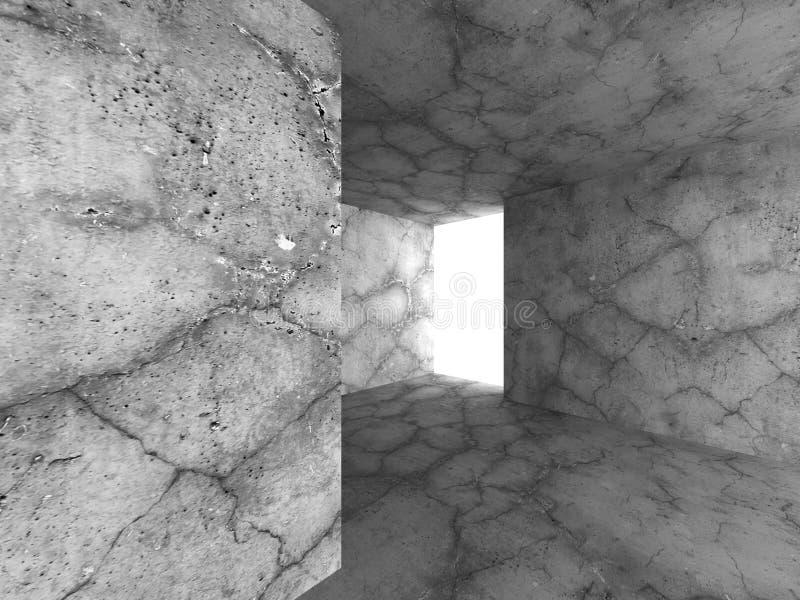 Download Mörk Tom Betongväggruminre Industriell Stads- Archit Stock Illustrationer - Illustration av texturerat, vägg: 78729075
