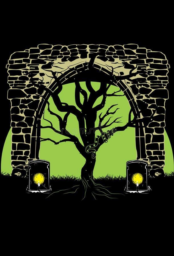 mörk tree arkivbilder