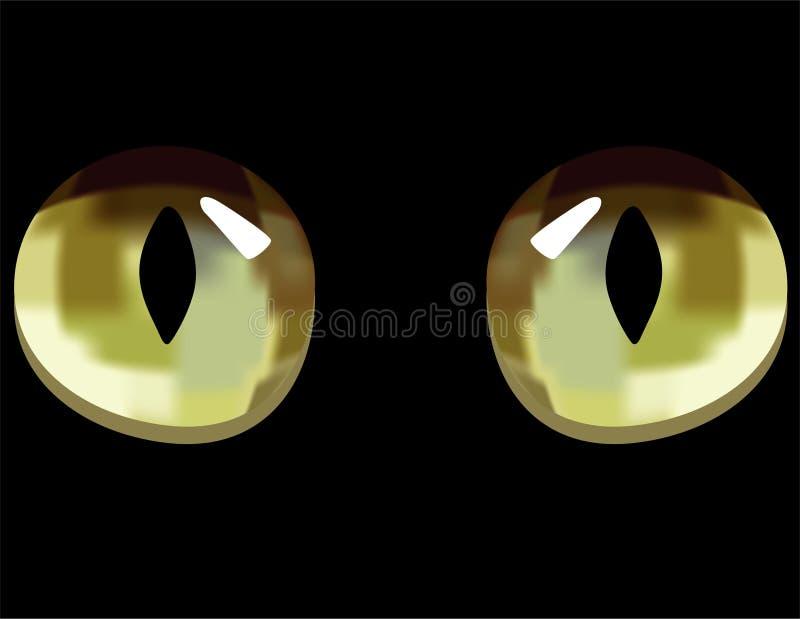 Mörka ögon För Katt Royaltyfria Bilder