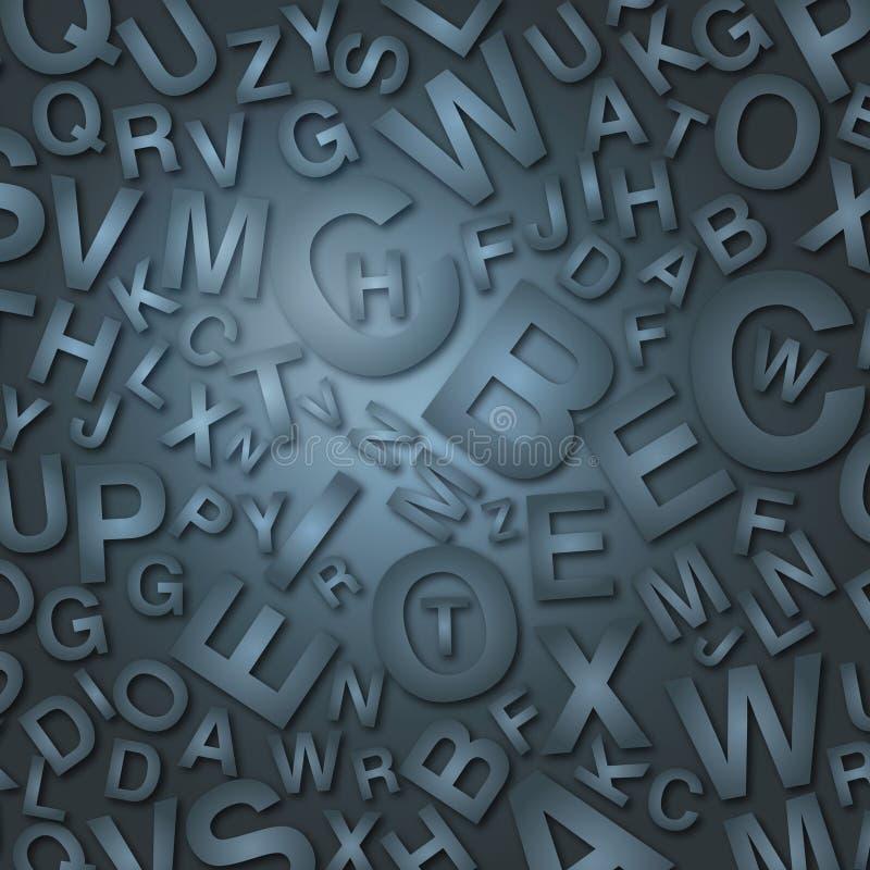 mörka bokstäver stock illustrationer