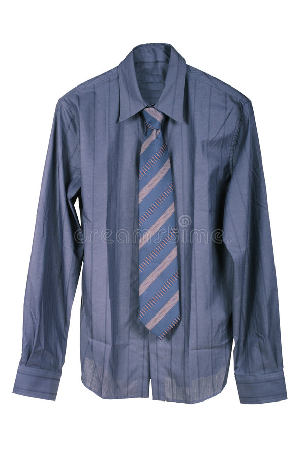 Mörkblå mans skjorta arkivfoton