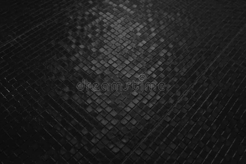 Mörker belägger med tegel mosaikmodellen royaltyfri foto