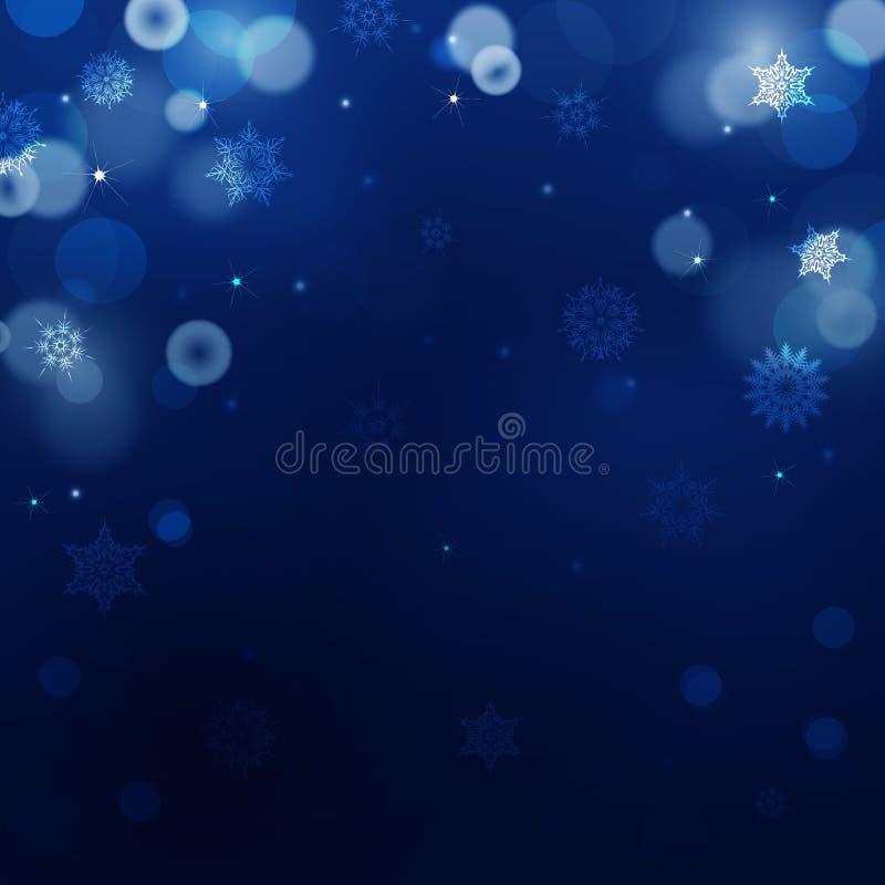 Mörker - blå suddighetsbakgrund för jul vektor illustrationer