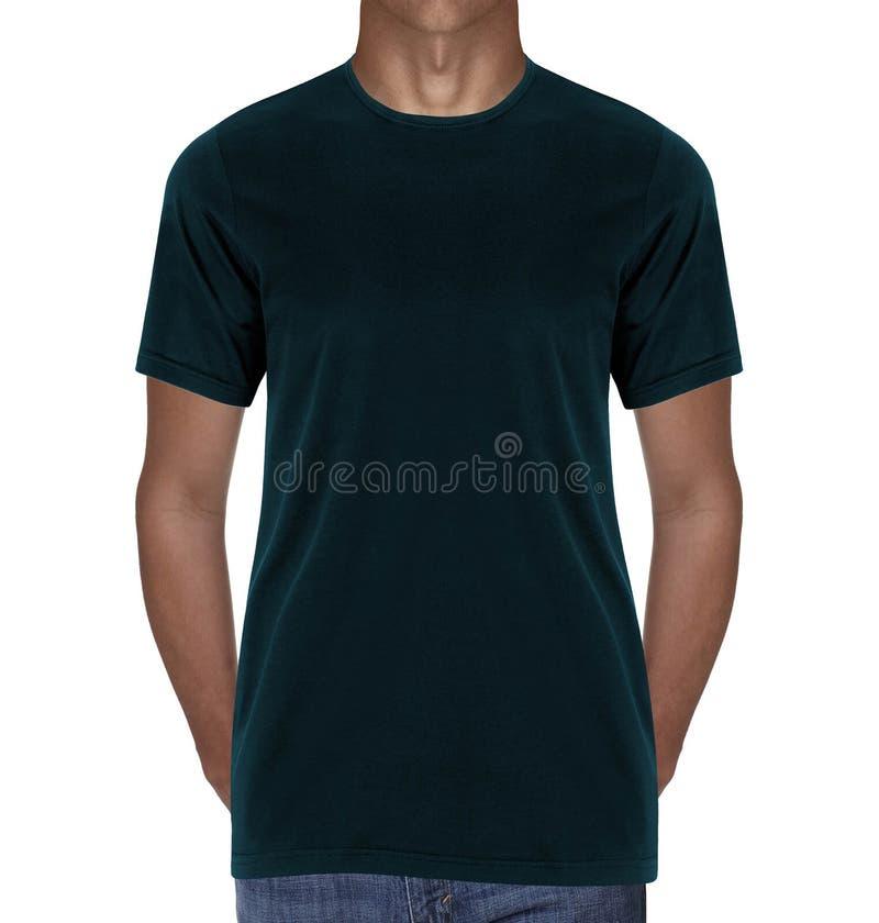Mörker - blå t-skjorta royaltyfri fotografi