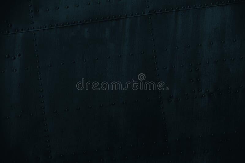 Mörker - blå textur för grungesmutsmetall royaltyfria bilder