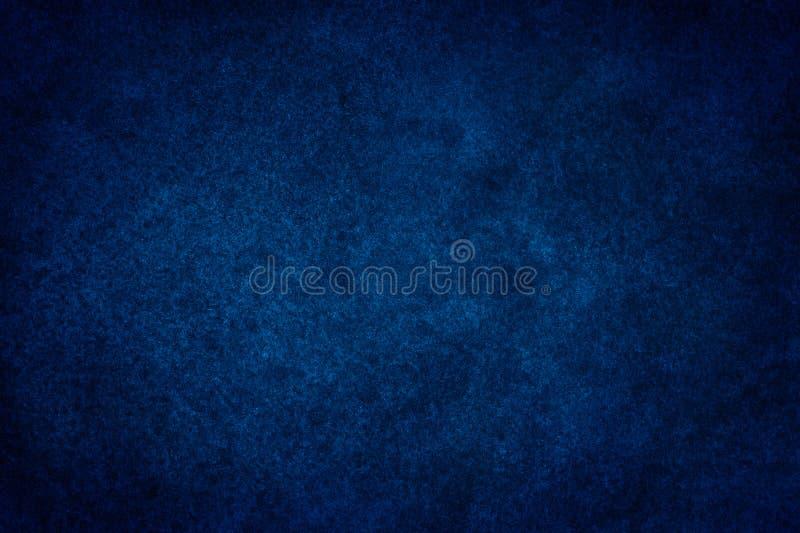 Mörker - blå vattenfärgmålarfärg på pappers- bakgrund stock illustrationer