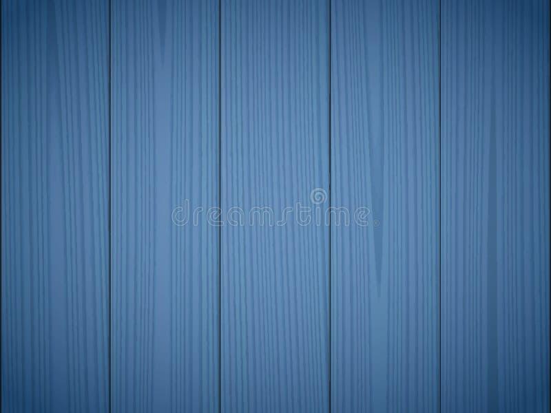 Mörker - blå wood textur royaltyfri illustrationer