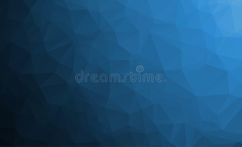 MÖRKER - blått texturerad polygonal bakgrund för vektor abstrakt begrepp royaltyfri illustrationer