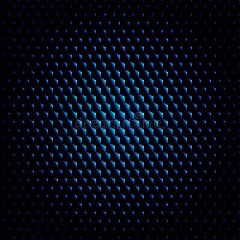 Mörker för bakgrund för vektor för textur för Techno sexhörningscirkel stock illustrationer