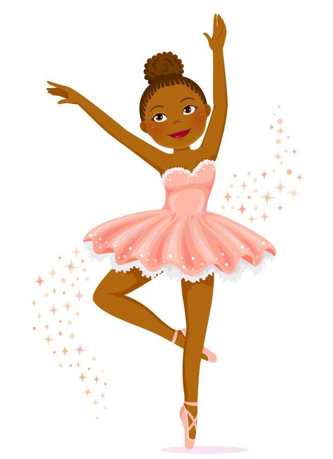Mörker flådd ballerina stock illustrationer