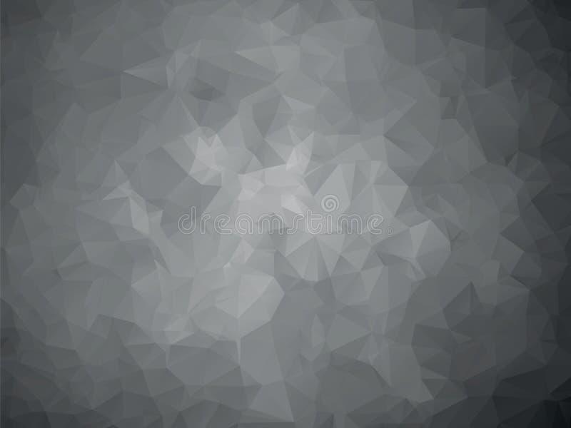 Mörker - grå geometrisk metallmodell stock illustrationer