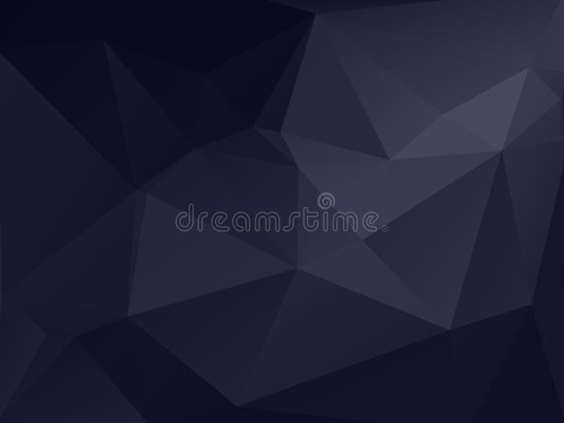 Mörker - grå polygonal texturbakgrund vektor illustrationer