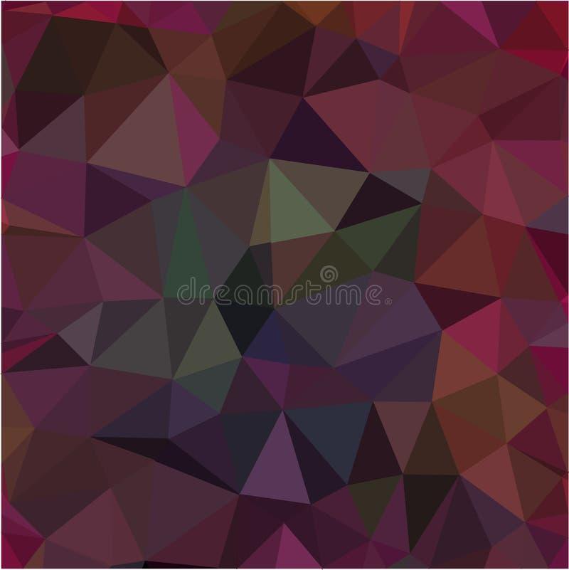 Mörker - röd rosa låg poly geometrisk formmodellbakgrund stock illustrationer