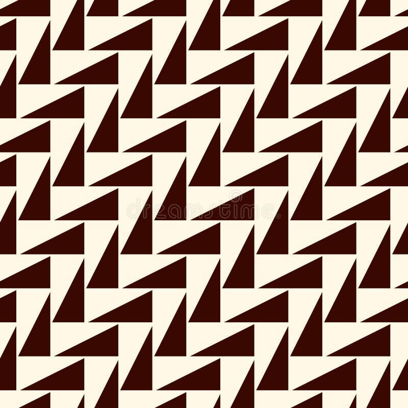 Mörker upprepade trianglar på vit bakgrund Enkel abstrakt tapet med geometriska diagram seamless yttersida för modell stock illustrationer