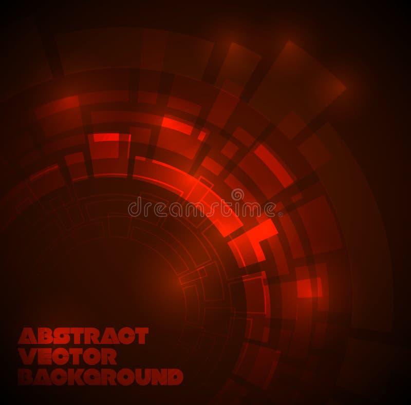mörkrött tekniskt för abstrakt bakgrund royaltyfri illustrationer