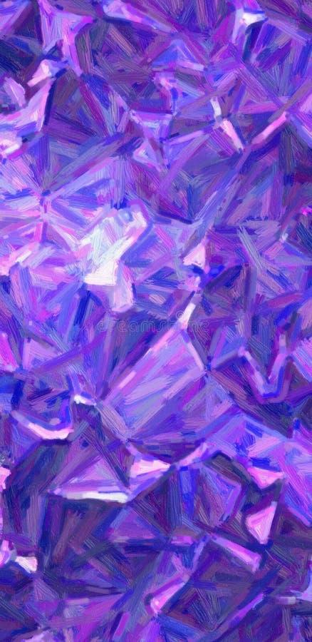 Mörkt - blå och purpurfärgad stor illustration för bakgrund för målning för färgvariationsolja vertikal arkivbilder