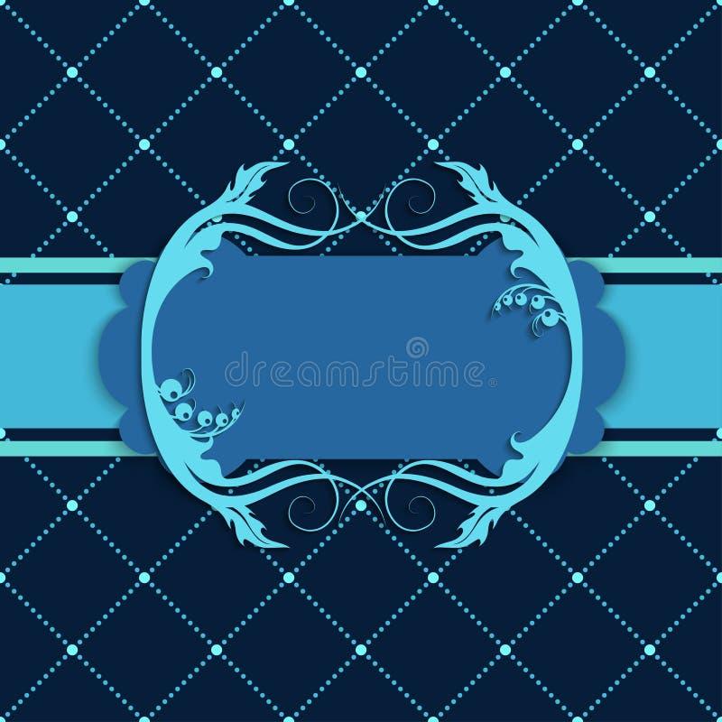 Mörkt - blå räkning för bakgrundsramvykort vektor illustrationer