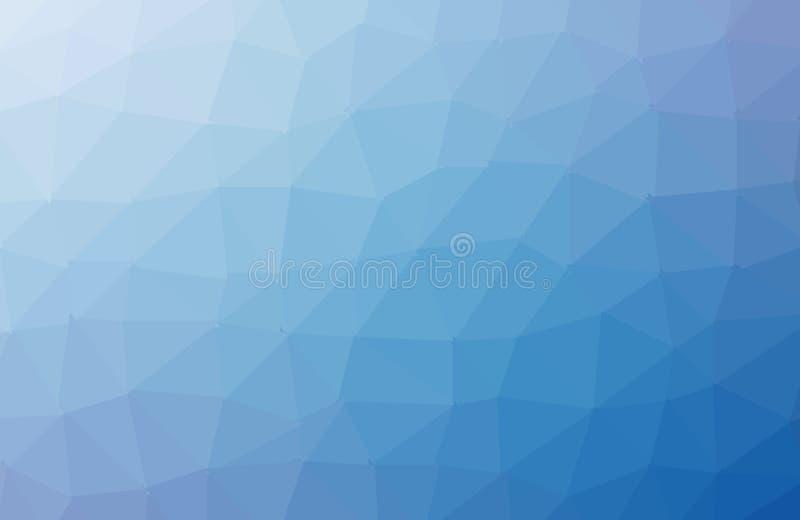 MÖRKT - för triangelbakgrund för blå vektor oskarp design Geometrisk bakgrund i origamistil med lutning royaltyfri illustrationer