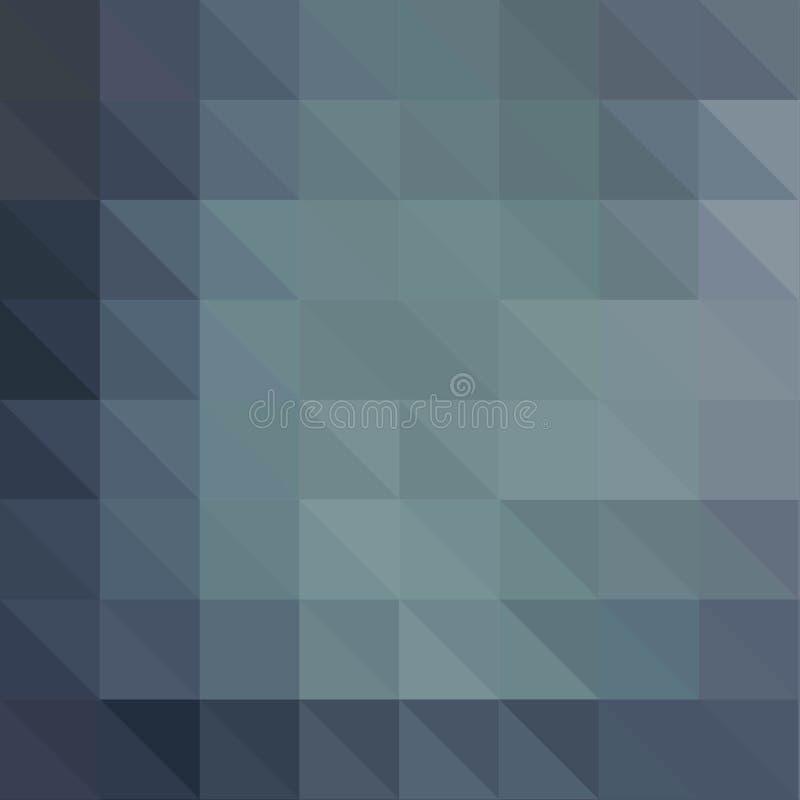 Mörkt - grå polygonal illustration, som består av trianglar Geometrisk bakgrund i origamistil med lutning stock illustrationer