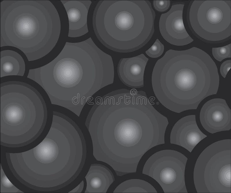 M?rkt - gr?a bollar Liknande bollar i ett st?lle vektor illustrationer