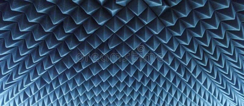 Mörkt grått triangulärt gummi för akustiskt skum för textur royaltyfria foton