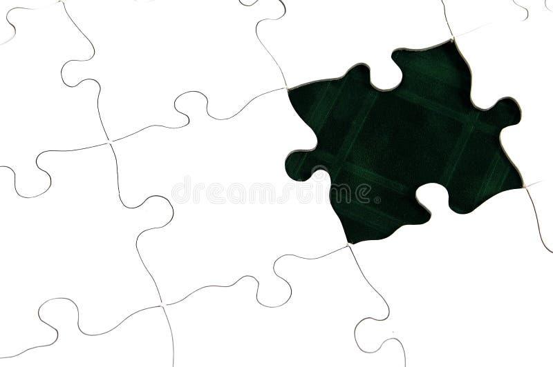Download Mörkt - grönt pussel fotografering för bildbyråer. Bild av challenge - 34561