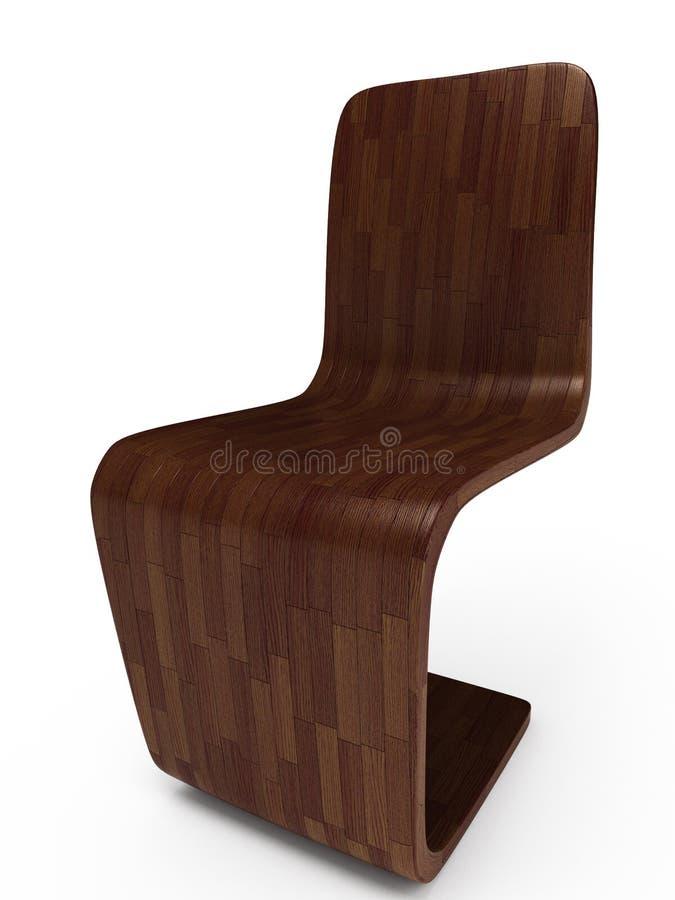 mörkt illustrationträ för stol 3d vektor illustrationer
