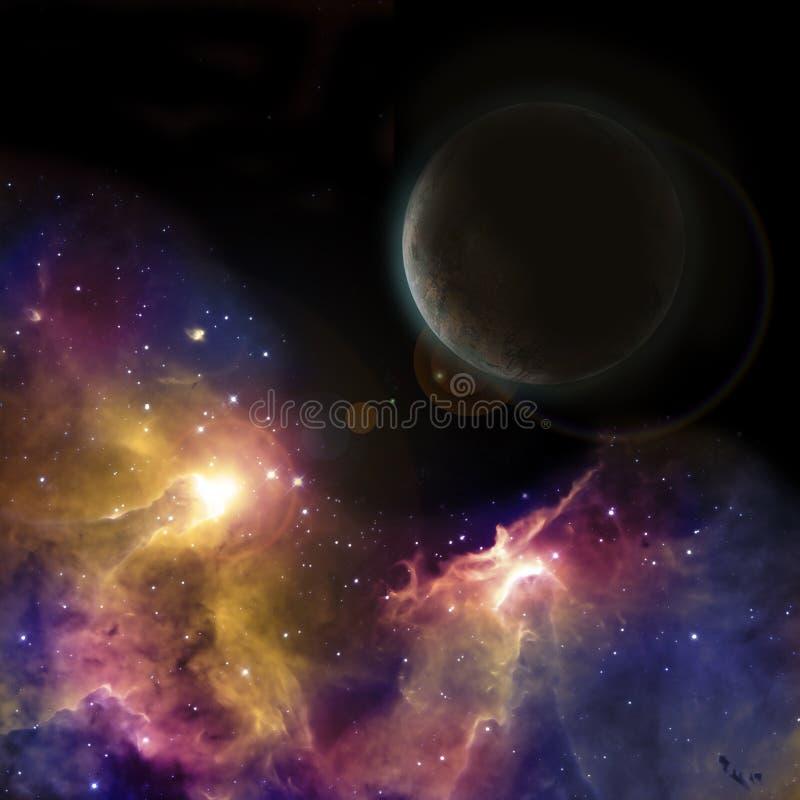 mörkt planet vektor illustrationer