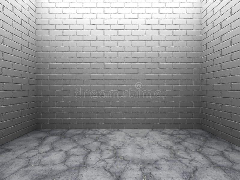 Download Mörkt Töm Ruminre Med Den Vita Flooen För Tegelstenväggen Och Betong Stock Illustrationer - Illustration av idérikt, sprucket: 78729292