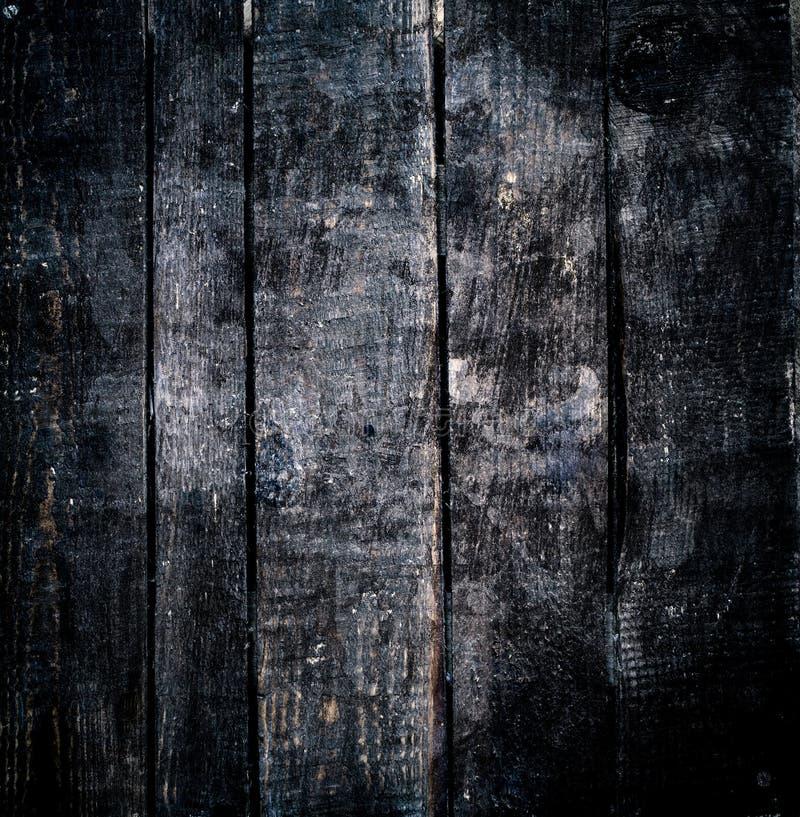 mörkt vektorträ för bakgrund Svart trätexturmakro royaltyfria foton