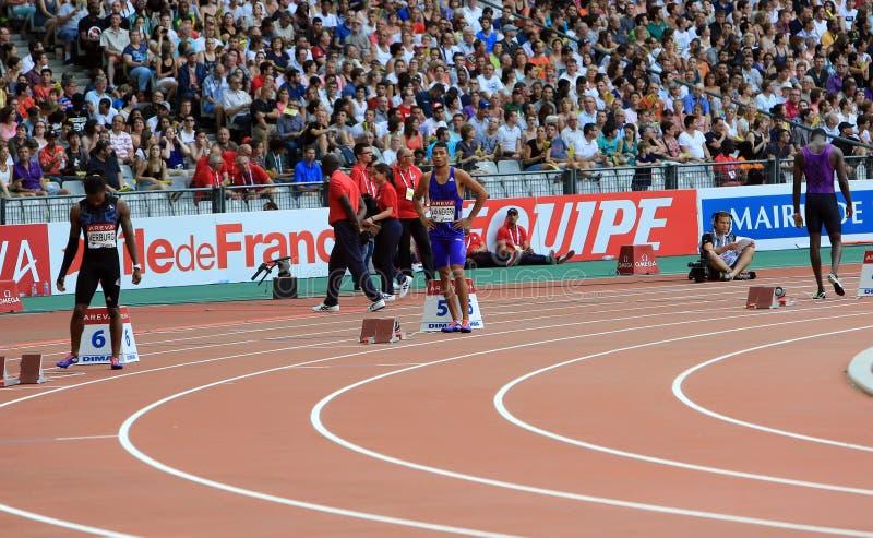 MÖTE AREVA, Paris IAAF Diamond League fotografering för bildbyråer