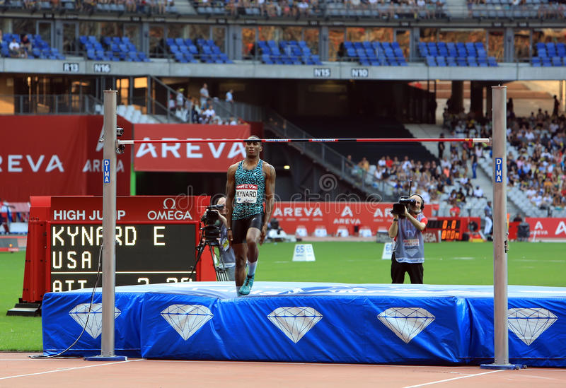 MÖTE AREVA, Paris IAAF Diamond League arkivbilder