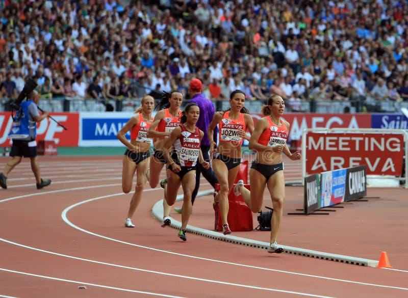 MÖTE AREVA, Paris IAAF Diamond League royaltyfria foton
