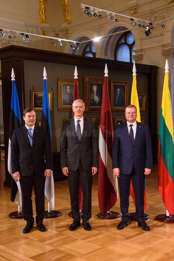 Möte av det baltiska rådet av ministrar fotografering för bildbyråer