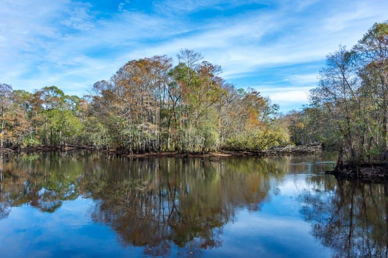 Möte för två floder fotografering för bildbyråer