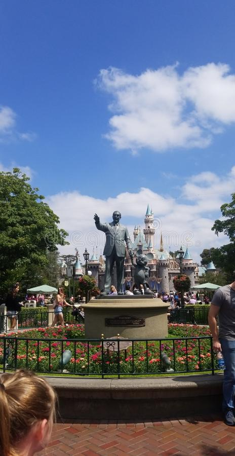 Möte Walt Disney royaltyfri foto