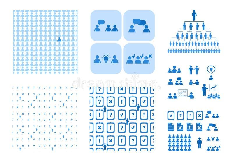Möten och konferenser för affärsfolk vektor illustrationer