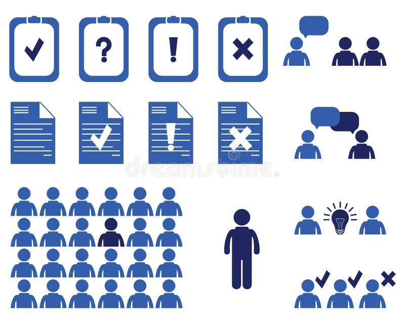 Möten och konferenser för affärsfolk Utbildningspresentationer royaltyfri illustrationer