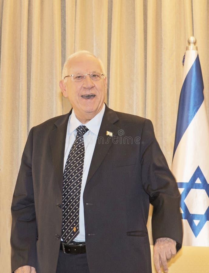Möter den kongress- delegationen för Förenta staterna Israel President royaltyfri bild