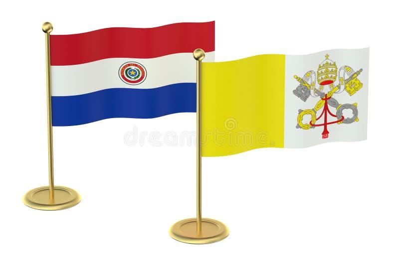 MöteVaticanen med det Paraguay begreppet stock illustrationer