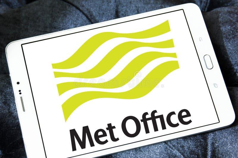 Mött logo för kontorsväderservice arkivbild