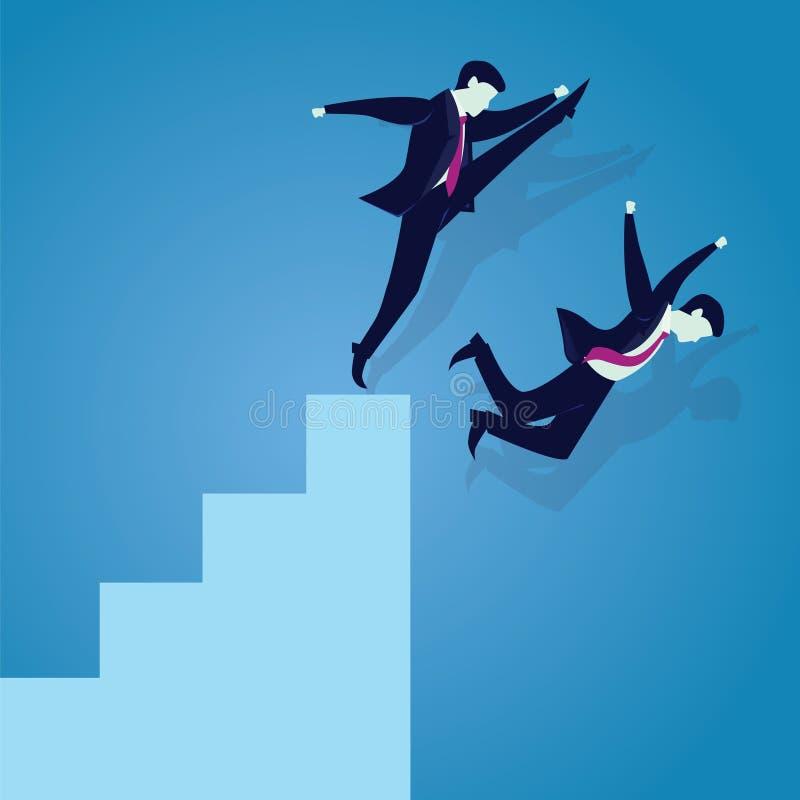 Mún concepto de la competencia del negocio ilustración del vector