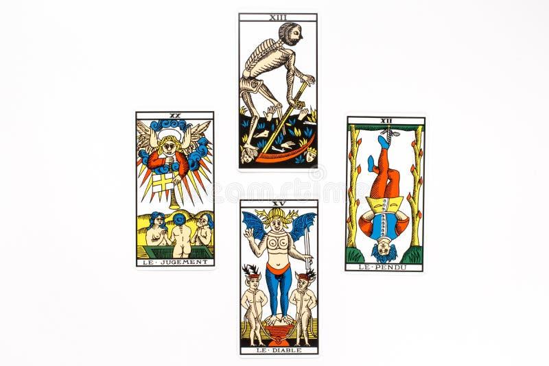 Drenaje De La Carta De Tarot Imagen de archivo - Imagen de divination, predicción: 43882969