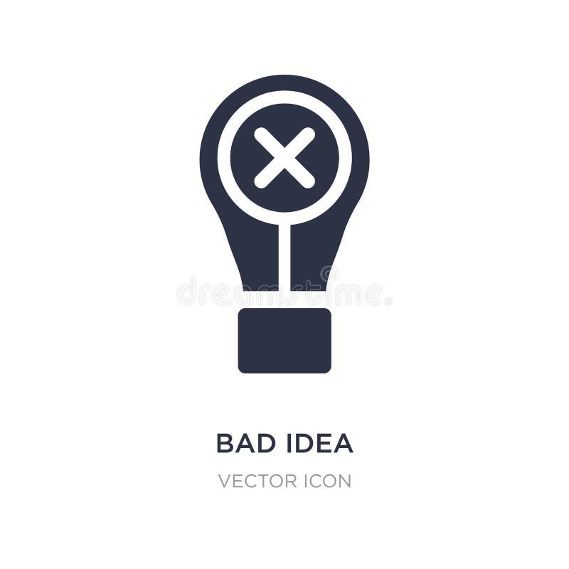 mún icono de la idea en el fondo blanco Ejemplo simple del elemento del concepto de UI ilustración del vector