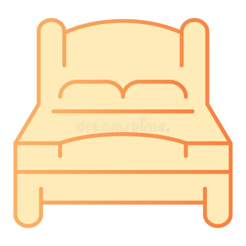 Mún icono plano Iconos anaranjados de la cama matrimonial en estilo plano de moda Diseño del estilo de la pendiente del sitio dob ilustración del vector